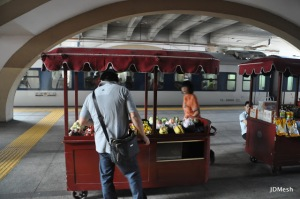 Frui for sale on the platform